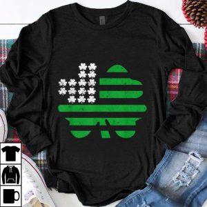 Awesome Saint Patricks Day Us Flag Four Leaf Clover Shamrock shirt