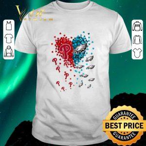 Funny Love Philadelphia Phillies Philadelphia Eagles tiny hearts shape shirt sweater