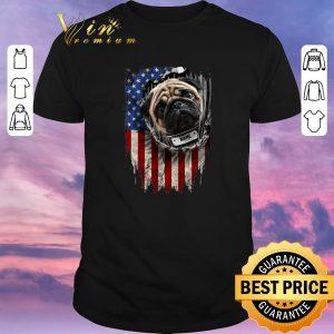 Funny Pug dog name American flag shirt sweater