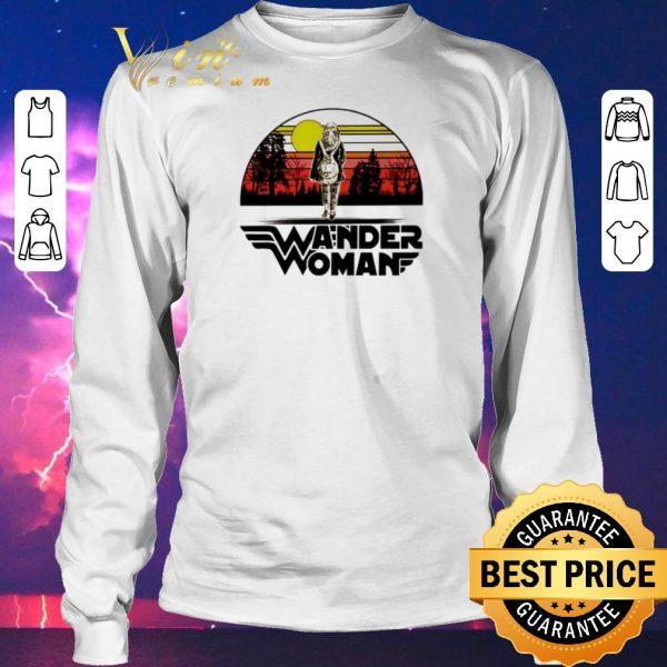 Funny Wander woman logo sunset shirt sweater