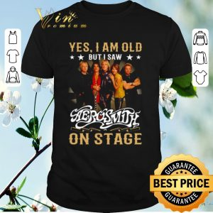 Hot Yes i am old but i saw Aerosmith on stage shirt sweater