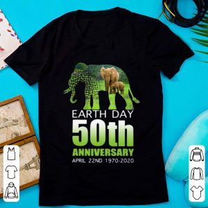 Nice Elephant Earth Day 50 April 22nd 1970 2020 shirt