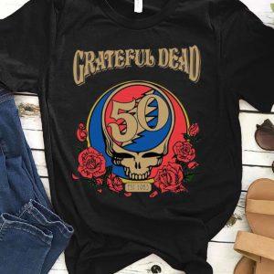 Nice Grateful Dead 50 Years Est 1965 Skull Rose Flower shirt