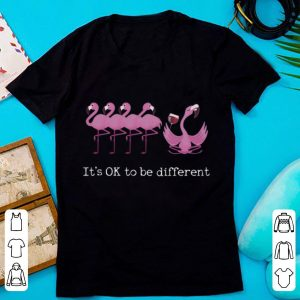 Official Flamingos It's Ok To Be Different Drinking Wine shirt