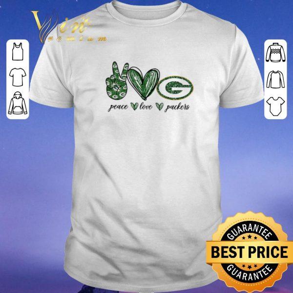 Premium Peace Love Green Bay Packers logo shirt sweater