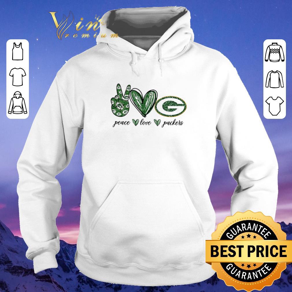 Premium Peace Love Green Bay Packers logo shirt sweater 4 - Premium Peace Love Green Bay Packers logo shirt sweater