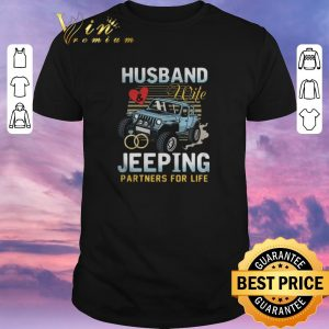 Pretty Husband Wife Jeeping Partners For Life shirt sweater