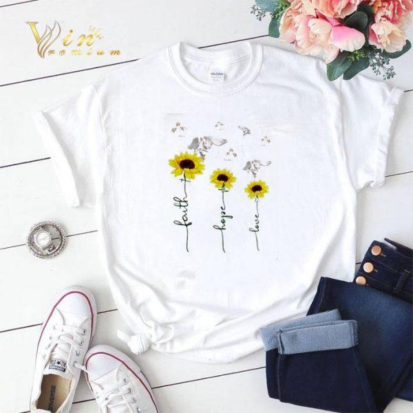 Sunflower angel faith hope love shirt sweater