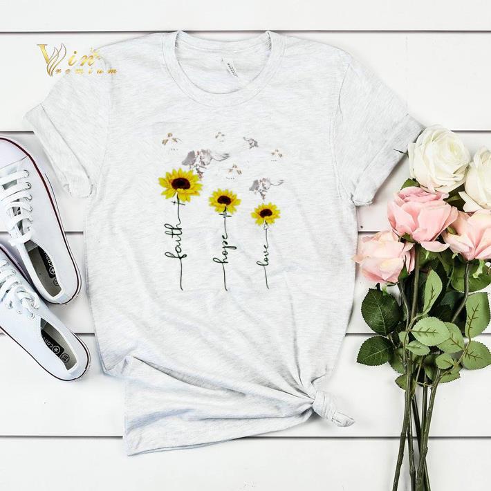 Sunflower angel faith hope love shirt sweater 4 - Sunflower angel faith hope love shirt sweater