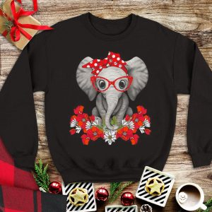 Top Elephant with flowers shirt