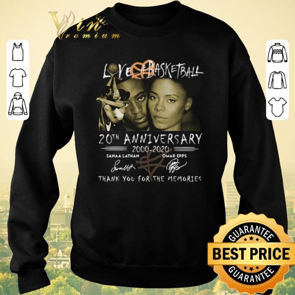 Premium Love Basketball 20th anniversary 2000-2020 thank you for the memories signatures shirt sweater