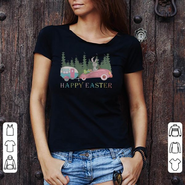 Camping Happy Easter Day Bunny Eggs shirt