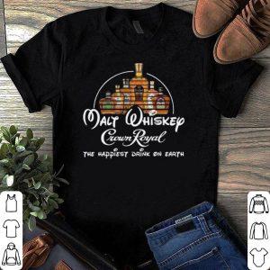 Disney Malt Whiskey Crown Royal the happiest drink on earth shirt