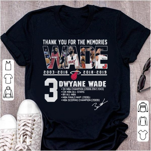 Miami Heat Dwyane Wade Thank You For The Memories shirt
