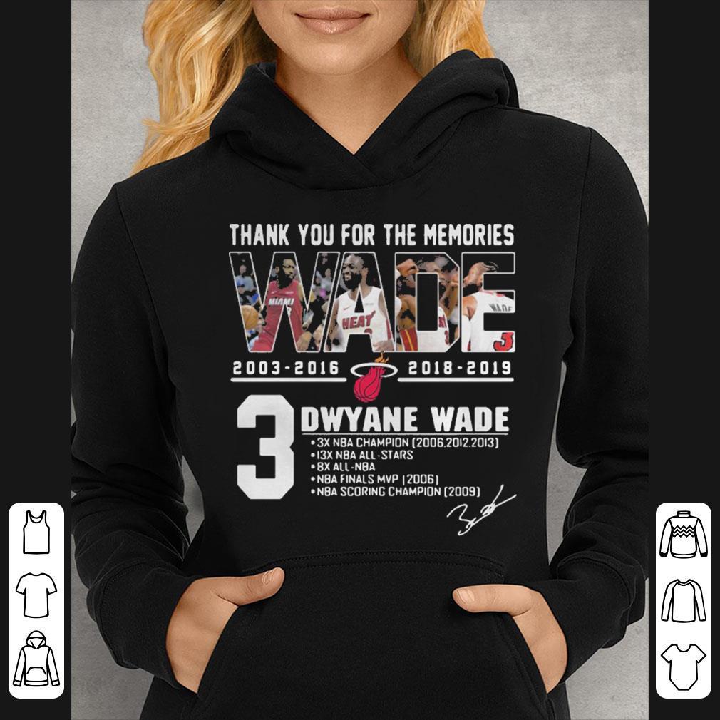 Miami Heat Dwyane Wade Thank You For The Memories shirt 4 - Miami Heat Dwyane Wade Thank You For The Memories shirt