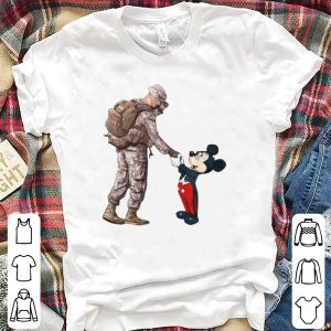 Mickey Mouse Army Soldier shaking hands shirt