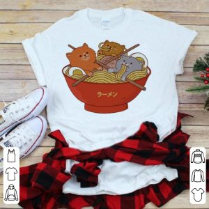 Ramen and cats shirt