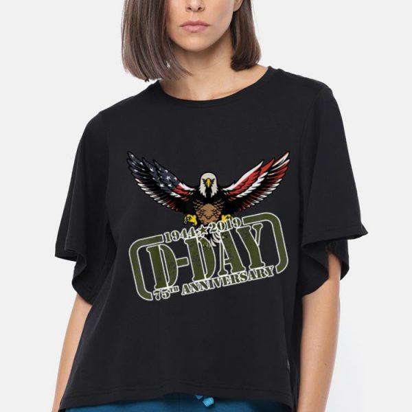 D-Day 75th Aniversary 1944-2019 America Eagle Flag shirt
