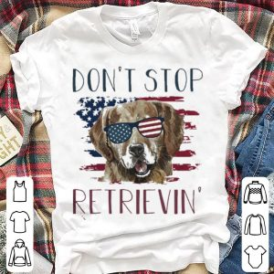 Dog don't stop retrievin America flag shirt