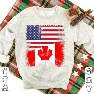 Half American Canadian Flag Happy Canada Day And America Day shirt