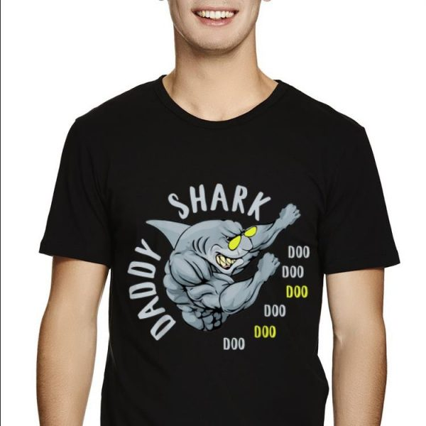 Handsome Fighting Daddy Shark Gift For Dad Daddy Father's Day shirt