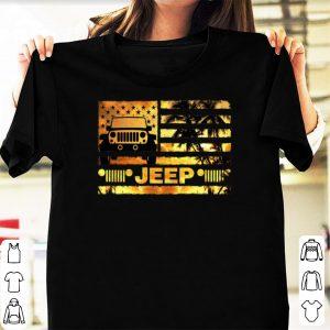 Jeep sunset flag America shirt