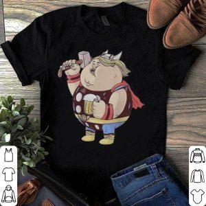 Marvel Avengers Endgame fat Thor and beer shirt