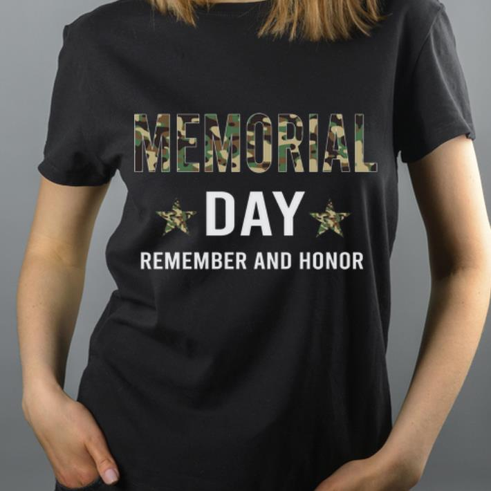 Memorial Day Remember And Honor Army Uniform shirt 4 - Memorial Day Remember And Honor Army Uniform shirt