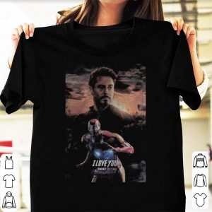 Tony Stark Iron Man I love you three thousand Avengers Endgame sunshine shirt