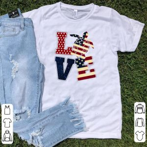 Turtle america Flag Love shirt