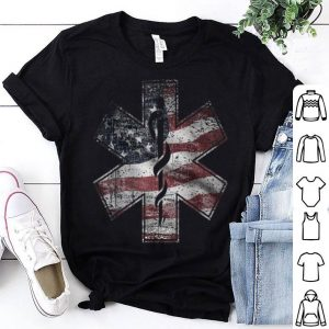 4th Of July Paramedic Ems Emt Usa American Flag Tee Shirt