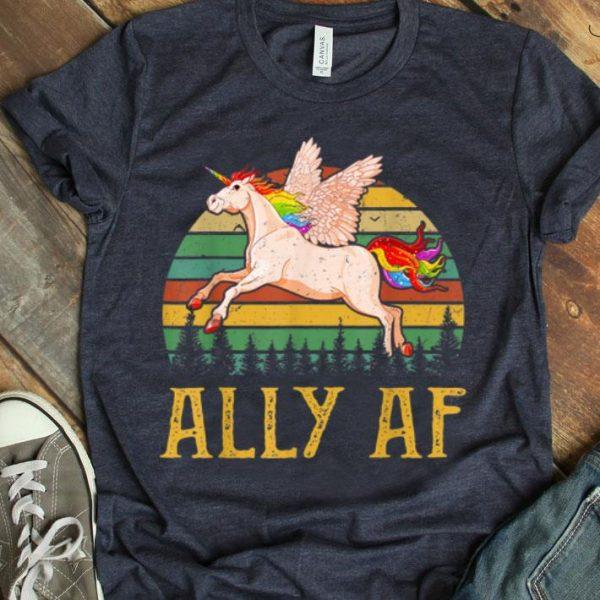 Ally Af - Gay Pride Month - LGBT Rainbow Unicorn Shirt