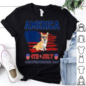 American 4th Of July Corgi shirt
