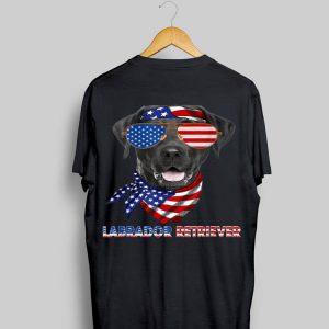 American Flag Labrador Retriever Dog Lover shirt