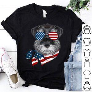American Flag Schnauzer Patriotic 4th Of July Shirt