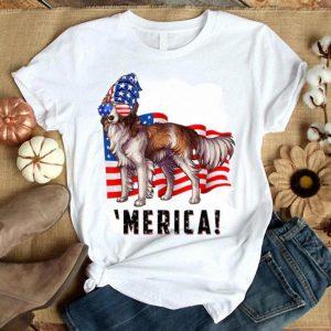 American Flag Usa 4th Of July Kooikerhondje Dog Shirt
