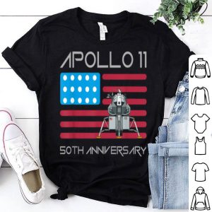 Apollo 11 50th Anniversary 4th Of July Day American Flag shirt