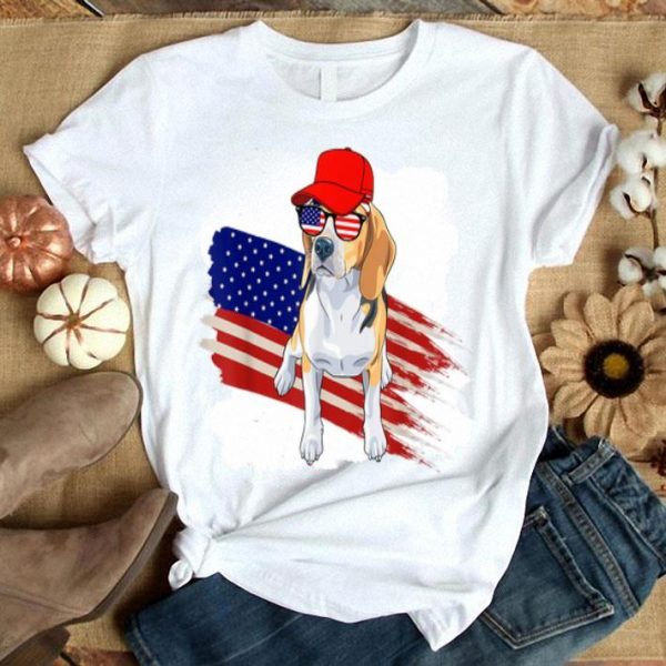 Beagle American Flag Usa Patriotic 4th Of July Gifts Shirt