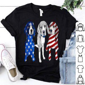 Beagle Patriotic American Flag 4th Of July shirt