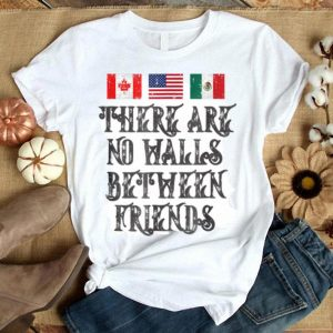 Border Wall Protest Mexican American Canadian Flag shirt