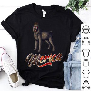 Bouvier Des Flandres Breed Dog America Flag Patriot shirt
