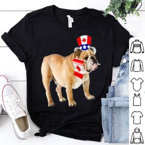 Canada - Maple Leaf Bulldog Canadian Flags Shirt
