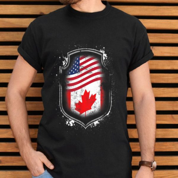 Canadian American Flags Of Canada and American Flag shirt