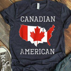 Canadian American-Half Canada Half America Flag shirt
