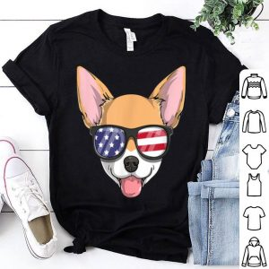 Chihuahua Dog Patriotic Usa 4th Of July American Flag shirt