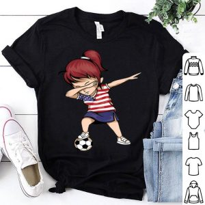 Dabbing Soccer Girl United States Jersey Usa Football shirt