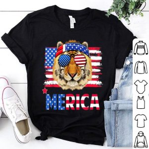 Funny Hanging With Tiger Mom Merica 4th July Shirt