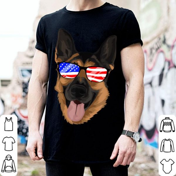 German Shepherd 4th July Usa Flag Independence Day shirt