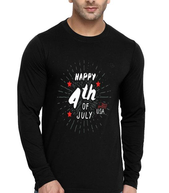 Happy 4th Of July American Flag Firework Shirt