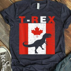 Happy Canada Day T-rex Canadian Flag 1st July Shirt